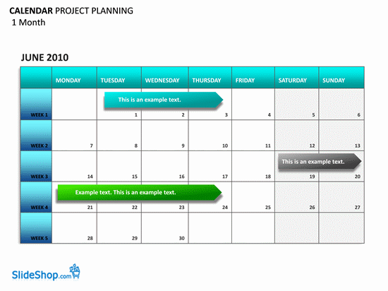 project planning calendar planners templates, Modern powerpoint