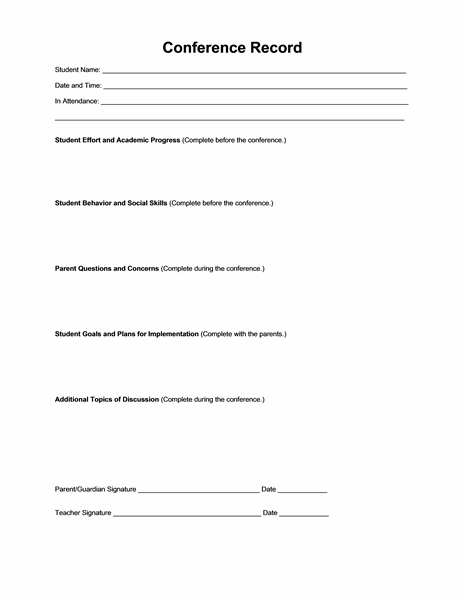 Conference planner and record (teacher version) free download