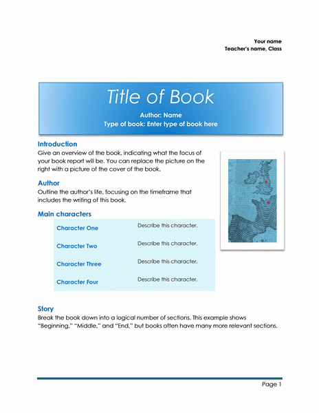 School book report free download