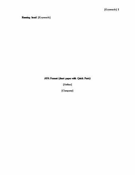 short essay in apa format