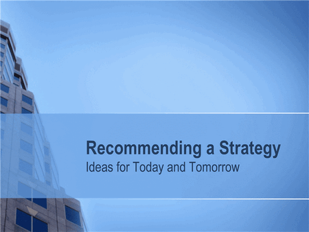 Business strategy presentation free download