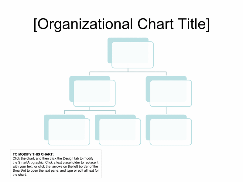 Organizational Chart Simple Basic And Easy Layout