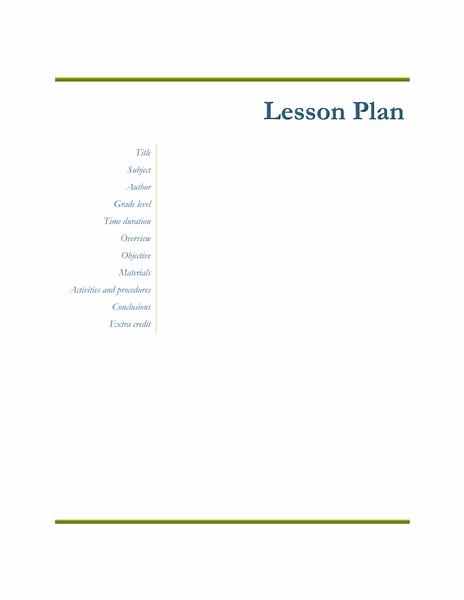 Teachers Class Simple Lesson Plan free download