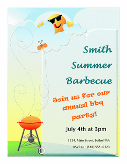 Summer Barbeque Wanted Poster Template
