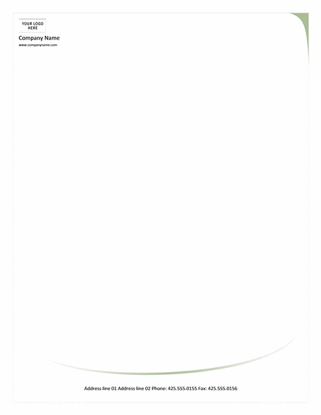 Download Green Letterhead Template Word Letterhead Templates