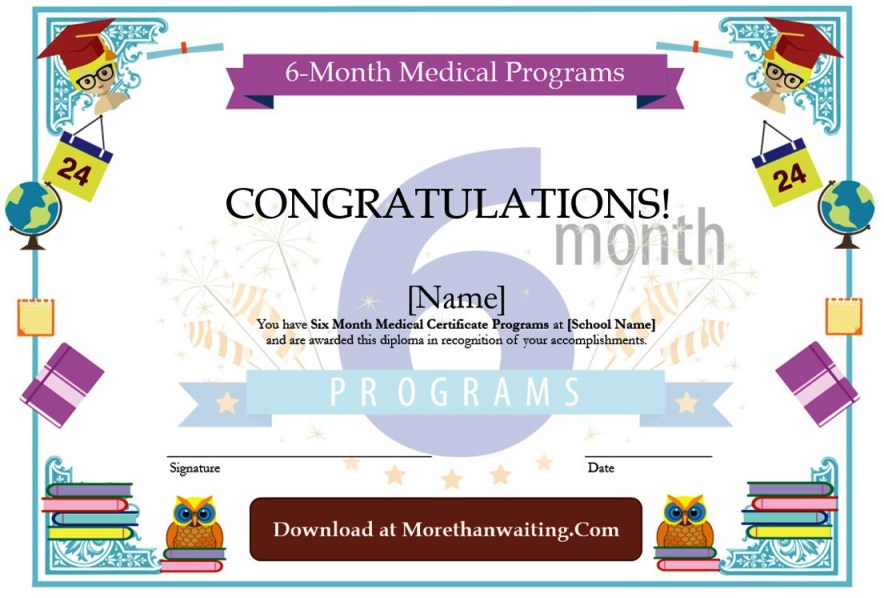 6 Month Medical Certificate Programs Template Graphic Templates