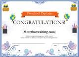 Preschool Diploma Borders Certificate