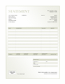 Billing Statement (green Gradient Design)