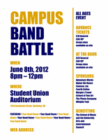 Blue Gold Student Flyer Poster Template