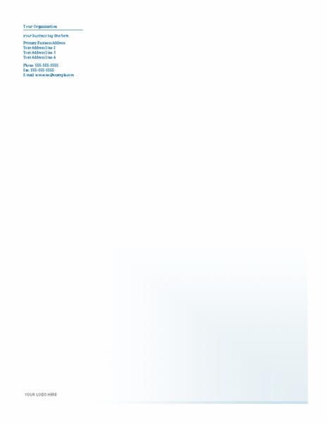 Business Company Letterhead Template Blue Design