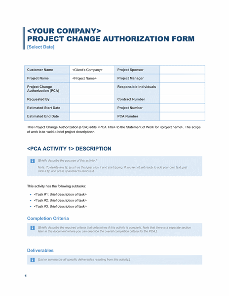 business project change of authorization hipaa privacy
