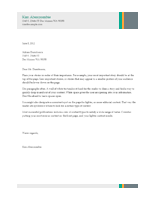 Business Sales Letterhead Template Word