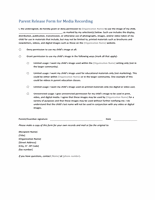 Children Image Usage Permission Form Template