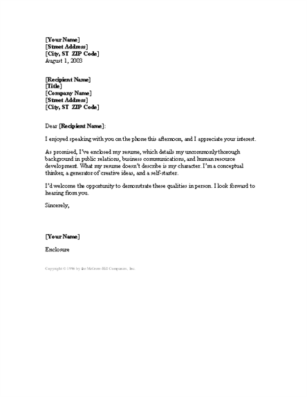 cover letter following up phone conversation cover letters