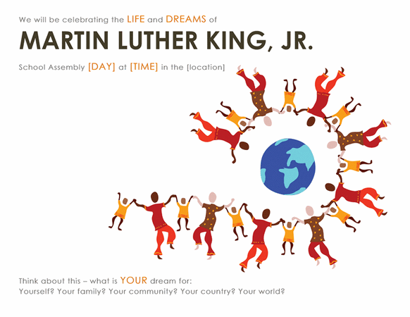 Martin Luther King Day Wanted Poster Template