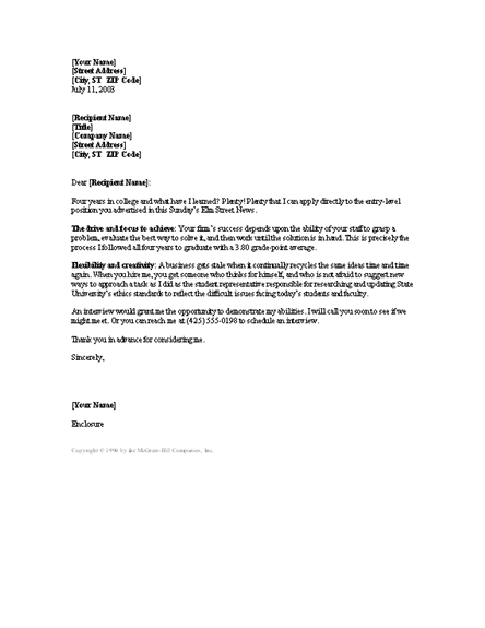 cover letter free sample cover letter for rn example new rn grad cover