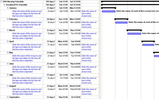nursing schedule schedules templates