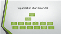 Powerpoint Organizational Grey Chart With Green Border