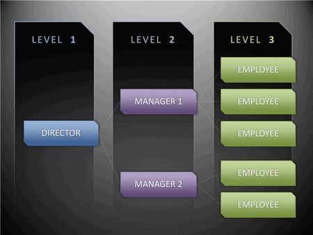 Professional Animated Organization Chart In Horizontal