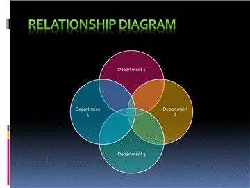 Relationship Diagram In Circle Shape And Black Background