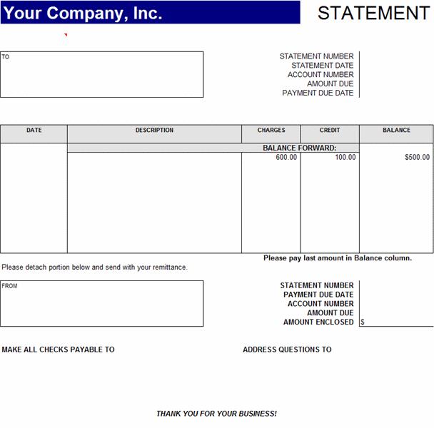 Accounts Receivable Excel Template