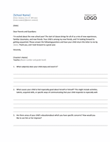 Student Profile Letter Request Form Template Microsoft Word