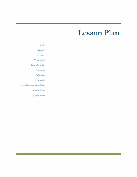 Teachers Class Simple Lesson Plan