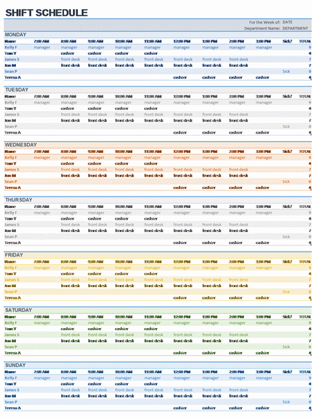 Employee Scheduling Excel Template. tips templates for creating a ...
