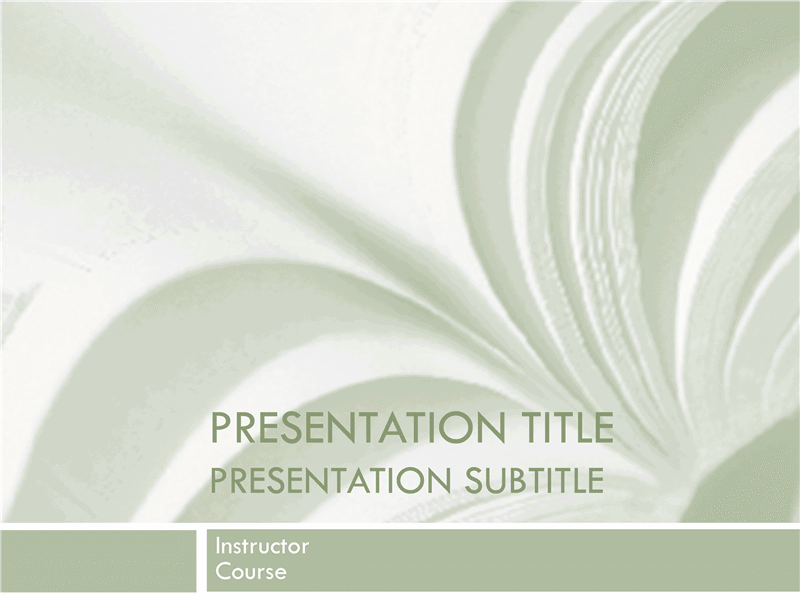 01 Academic Presentation For College Course In Textbook Design