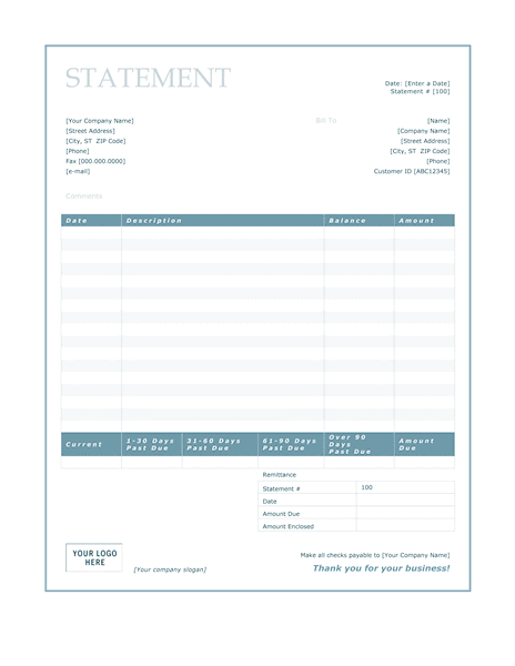 Download Billing for Microsoft Office Software Its a Free billing – Word Statement Template