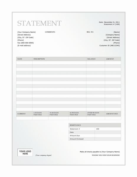 01 Billing Statement (green Gradient Design)