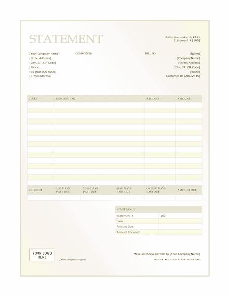 02 Billing Statement (green Gradient Design)