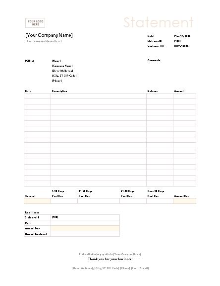 02 Billing Statement (simple Lines Design)