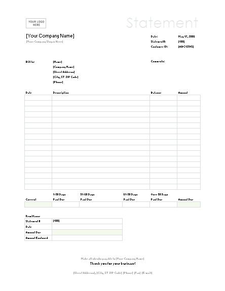 03 Billing Statement (simple Lines Design)