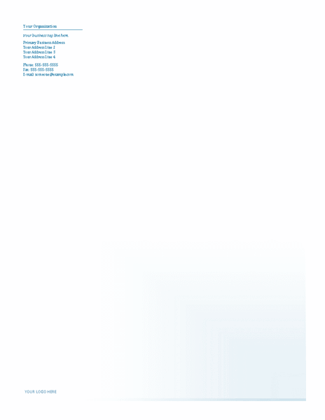 Download Samples-4 Business Company Letterhead Template Blue Design
