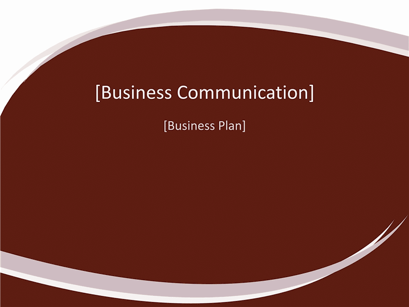 01 Business Plan Presentation (burgundy Wave Design)