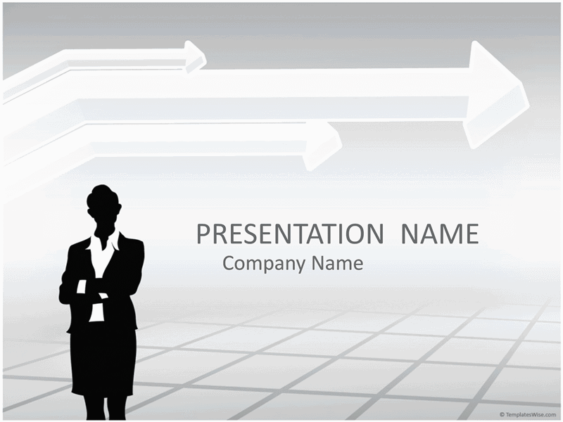 01 Businesswoman Silhouette Presentation