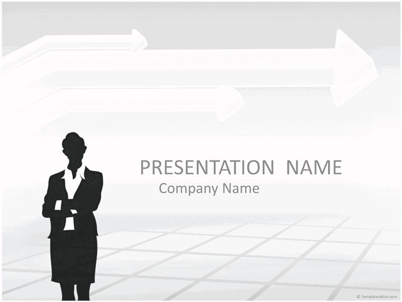 02 Businesswoman Silhouette Presentation