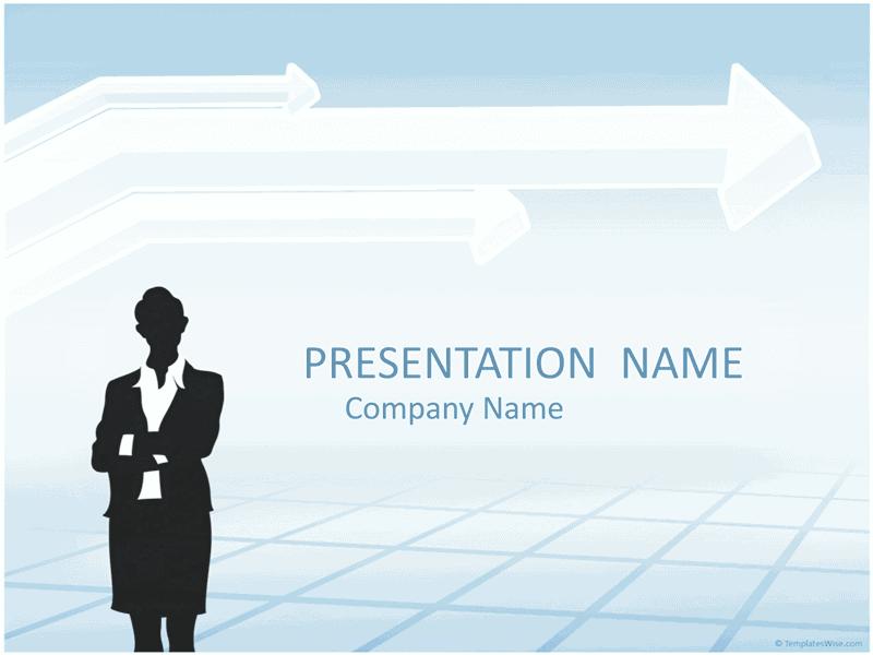 03 Businesswoman Silhouette Presentation