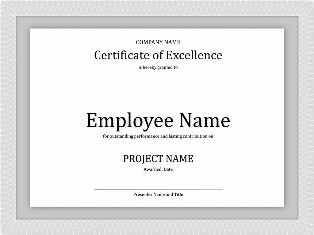 01 Certificate Of Excellence For Employee 2015 2016