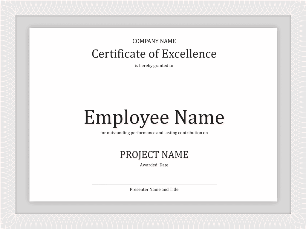 02 Certificate Of Excellence For Employee 2015 2016