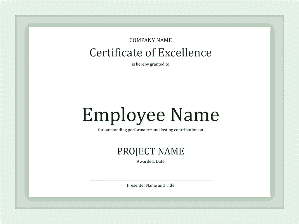 Download 03 Certificate Of Excellence For Employee 2015 2016