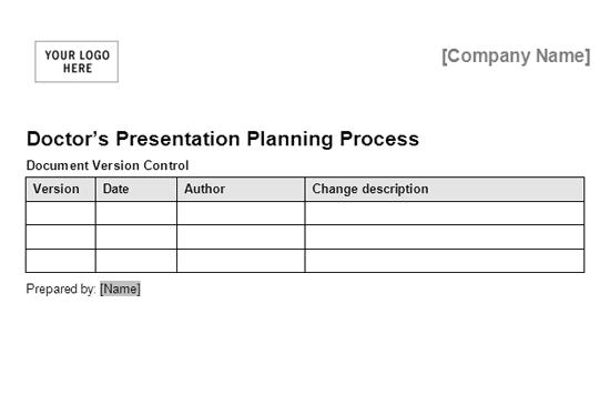 01 Doctors Presentation Planning Process Framework