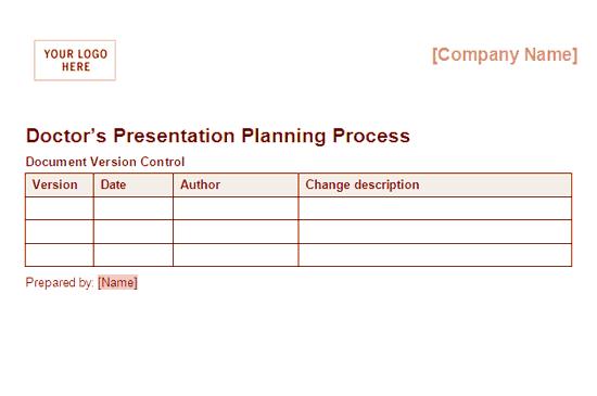 02 Doctors Presentation Planning Process Framework