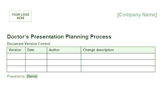 03 Doctors Presentation Planning Process Framework