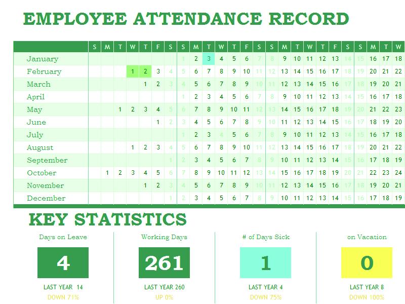 03 Employee Attendance Tracker Excel Template