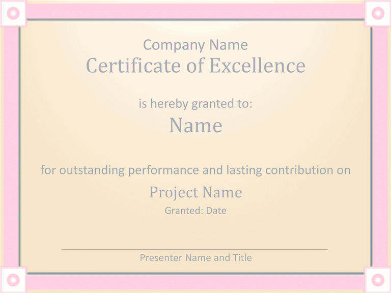 02 Employee Award Certificate Of Excellence Template