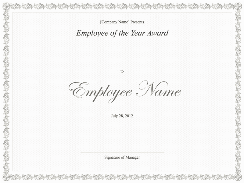 01 Employee Of The Year Award Template