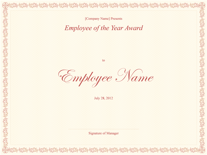 02 Employee Of The Year Award Template