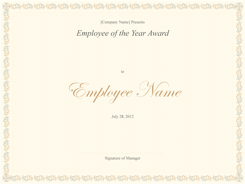 03 Employee Of The Year Award Template